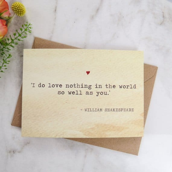 Meet Me at the Library Card Romantic Card for Book Lover Love Card Literary Greeting Card Bookish Love Card