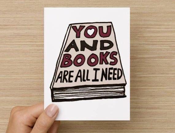 Friendship Card Book Lover Card So Many Books Book Card