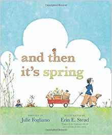 Looking for the perfect spring book for your toddler and preschooler? And Then It's Spring is a story we can all relate to when a little boy is just so ready for spring after a long winter so he plants a garden and waits and waits for the signs of spring!
