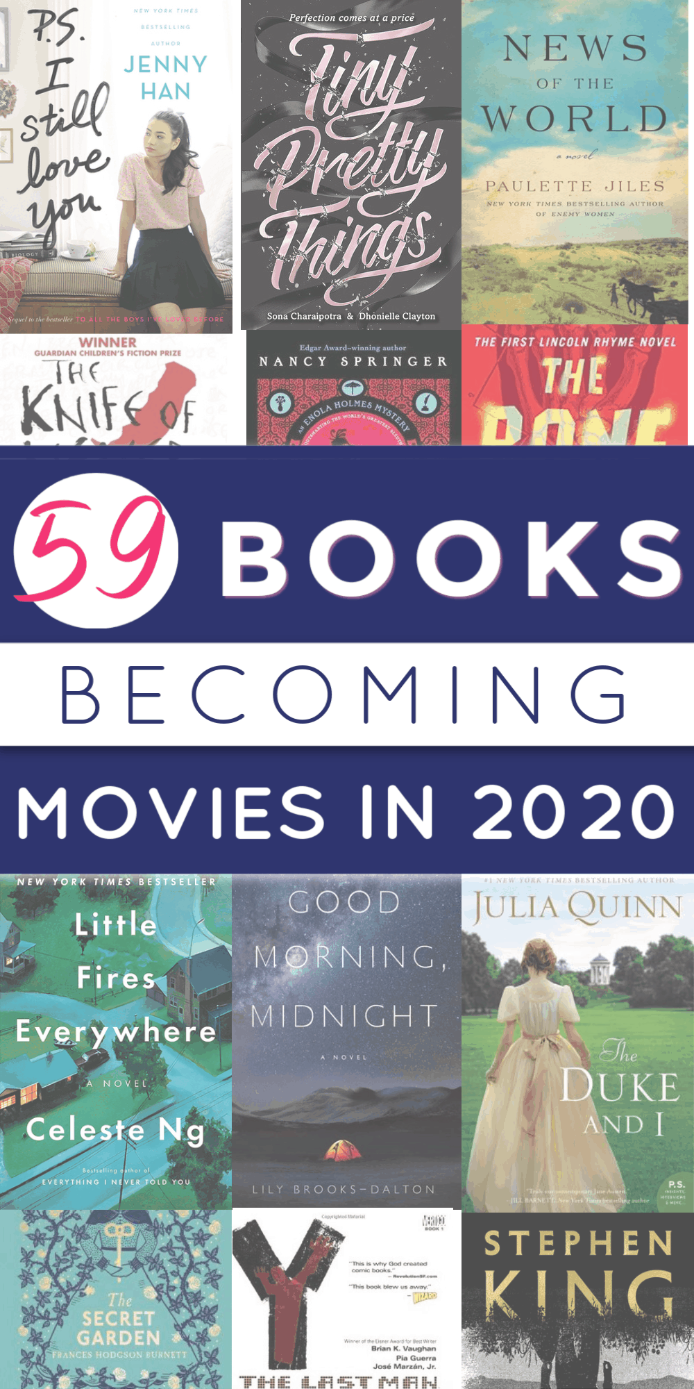 Best Novels 2020.The Definitive Guide To All The Books Becoming Movies In 2020